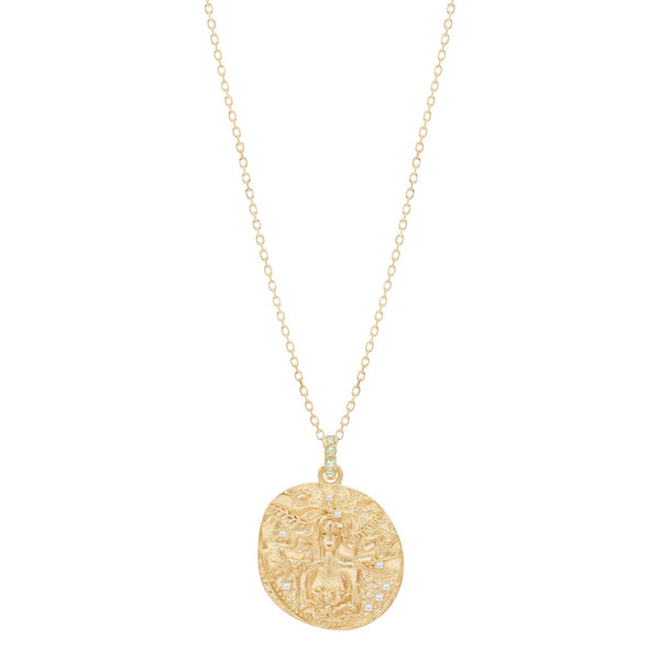 Gold Goddess of Earth Necklace