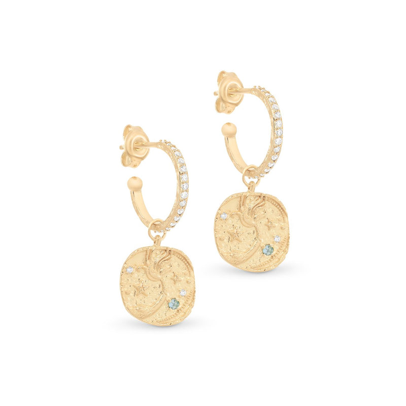 Shop Gold Goddess of Water Hoops at Rose St Trading Co