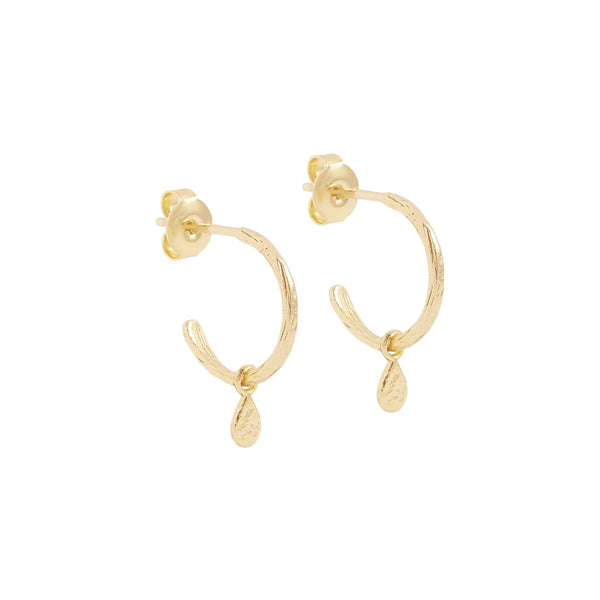 Gold Grace Hoop Earrings