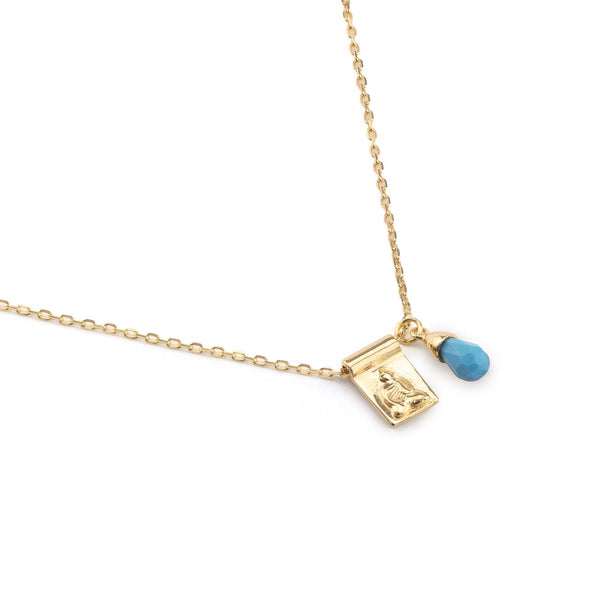 Shop Gold Little Buddha and Sleeping Beauty Necklace at Rose St Trading Co
