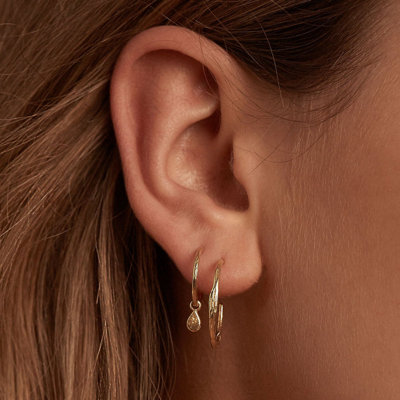 Shop Gold Grace Hoop Earrings at Rose St Trading Co