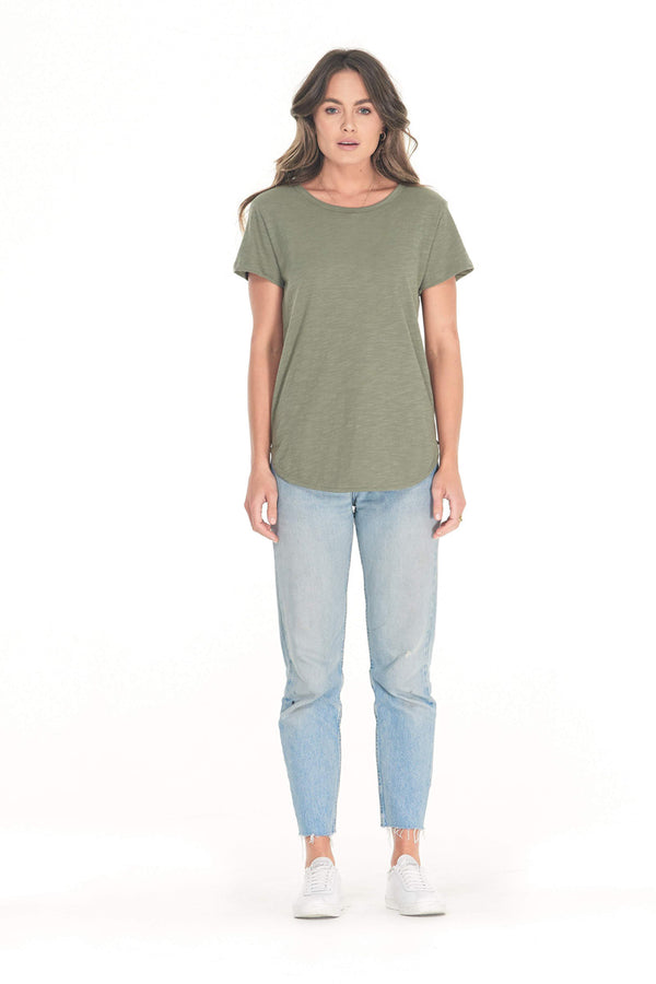 Shop Charlotte Tee | Khaki at Rose St Trading Co