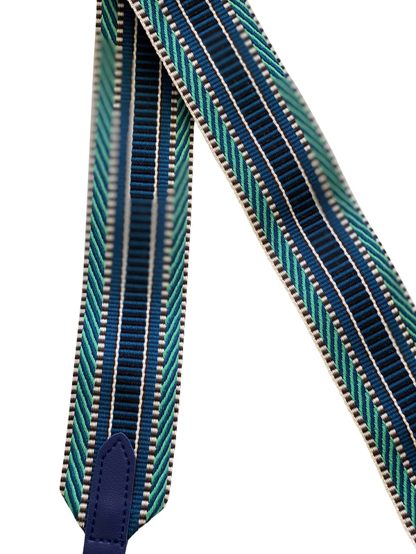 Shop Blue + Green Pattern Bag Strap - 90cm at Rose St Trading Co