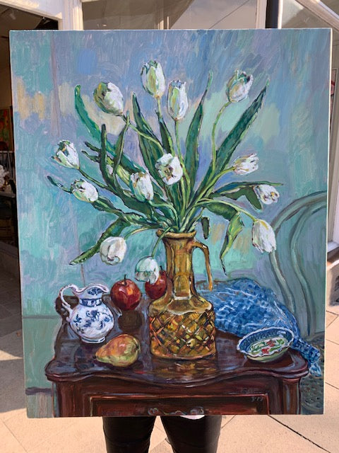 Shop White Tulips - Elizabeth GAIR Palmer at Rose St Trading Co