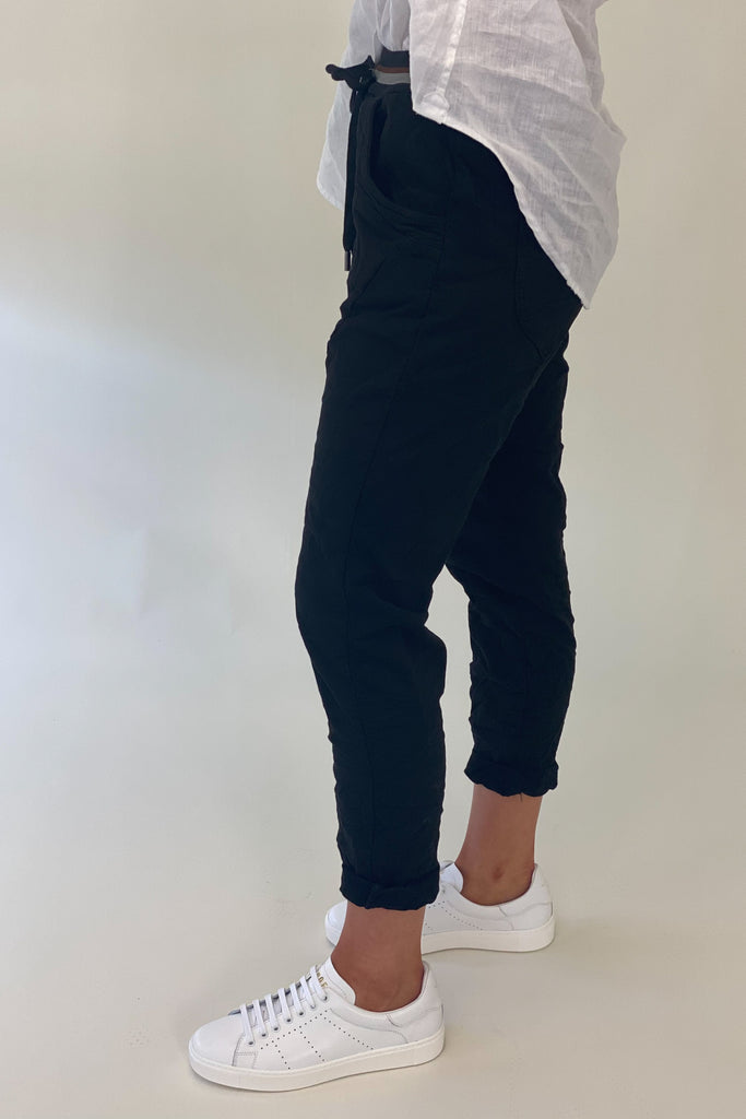 Shop Ralph Joggers | Black at Rose St Trading Co