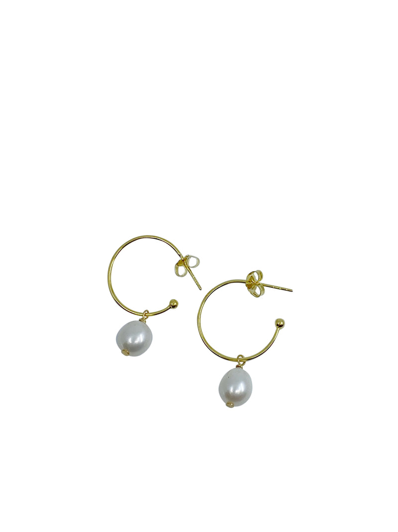 Shop Gold Plated Hook with Single Pearl Drop at Rose St Trading Co