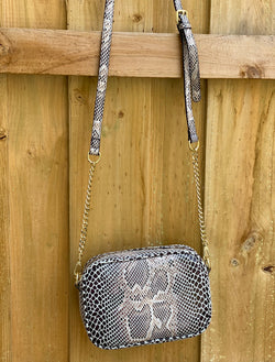 Shop Baby Mia Crossbody Bag - Python at Rose St Trading Co
