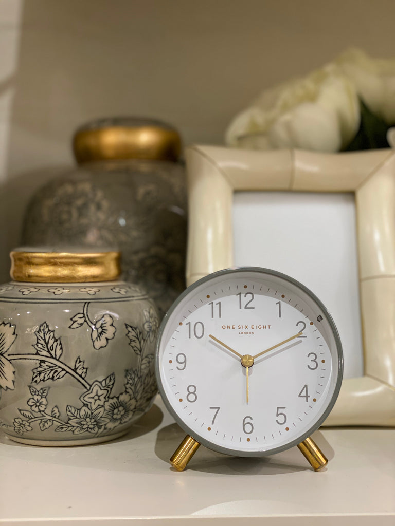 Shop Maisie Charcoal Alarm Clock at Rose St Trading Co