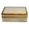 Shop Cream Tiled Box with Gold Detail- Small at Rose St Trading Co