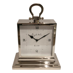 Shop Nickel Mantle Clock at Rose St Trading Co