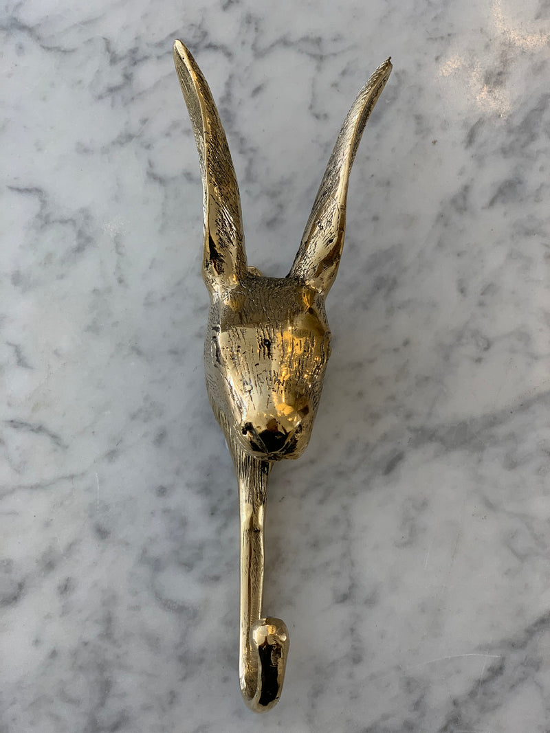 Shop Gold Hare Coat Hook at Rose St Trading Co