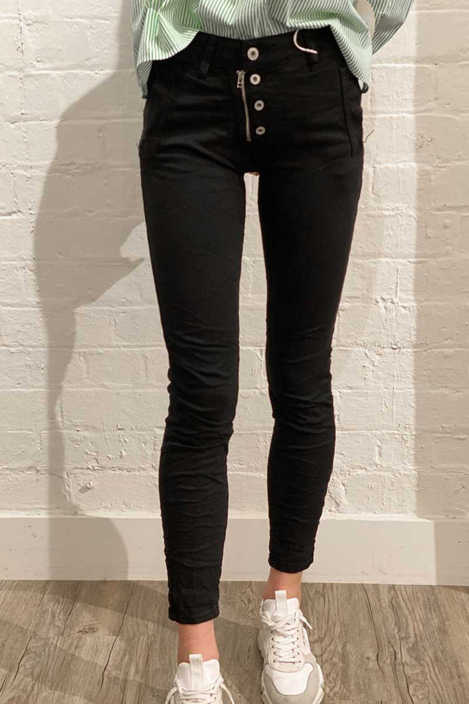 Shop Italian Jeans - Black at Rose St Trading Co