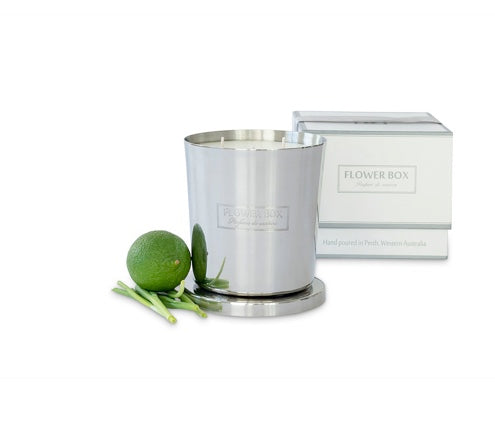 Shop Fresh Lemongrass - 1kg Silver Candle at Rose St Trading Co
