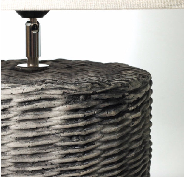 Shop Grey Weave Table Lamp at Rose St Trading Co
