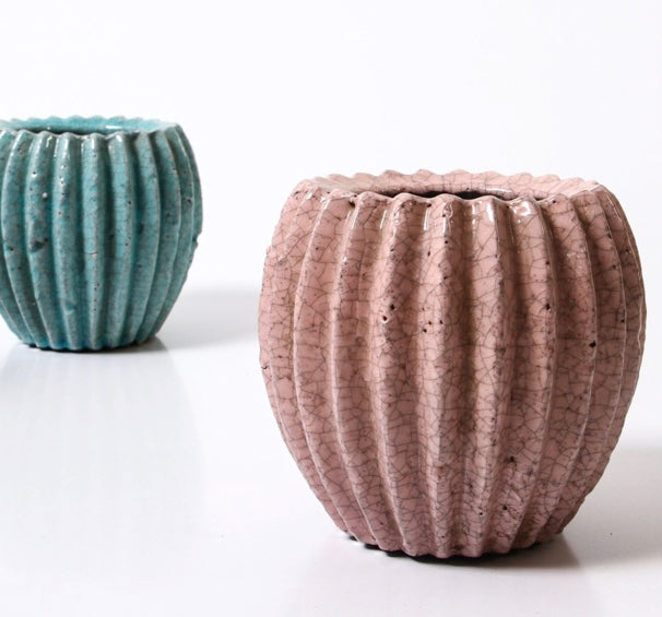 Shop Dusty Pink Pleated Pot at Rose St Trading Co
