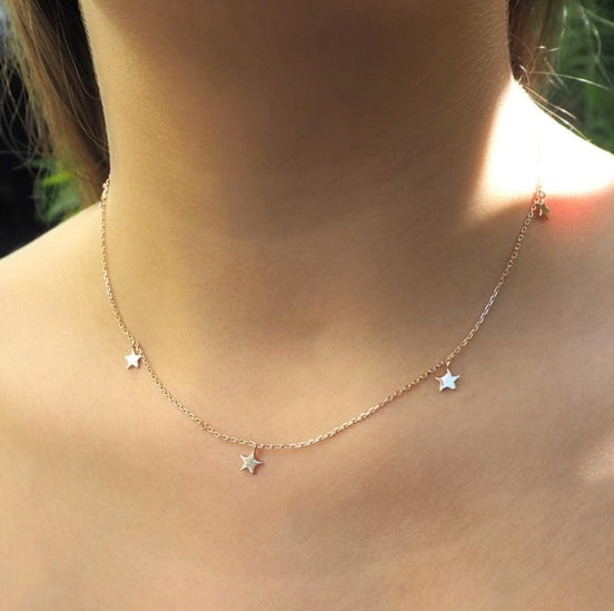 Shop Rose Gold Star Bright Necklace at Rose St Trading Co