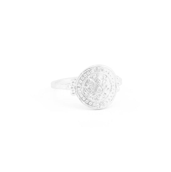 Shop Small Silver Lotus Rising Ring at Rose St Trading Co