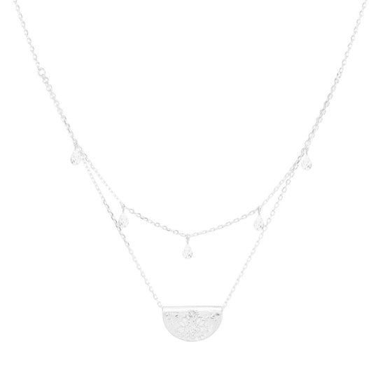 Shop Silver Blessed Lotus Necklace at Rose St Trading Co