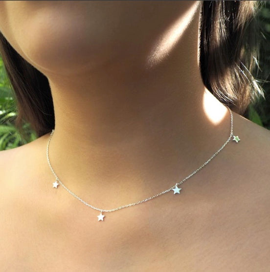 Shop Silver Star Bright Necklace at Rose St Trading Co