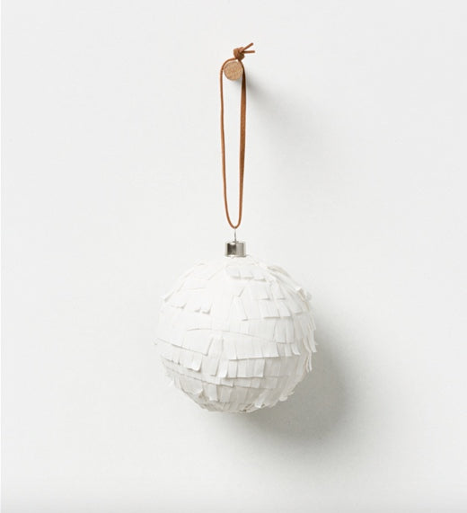 Shop Holiday Hanging Bauble - White Set 4 at Rose St Trading Co