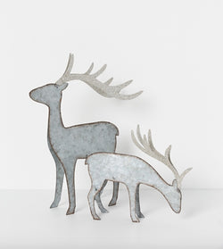 Shop North Pole Standing Reindeer Silver | 2 Sizes at Rose St Trading Co