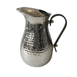 Shop Hammered Stainless Steel Jug Wuth Leather Handles- Lge at Rose St Trading Co