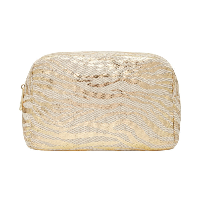 Shop Small Cosmetics Bag | Gold Zebra at Rose St Trading Co