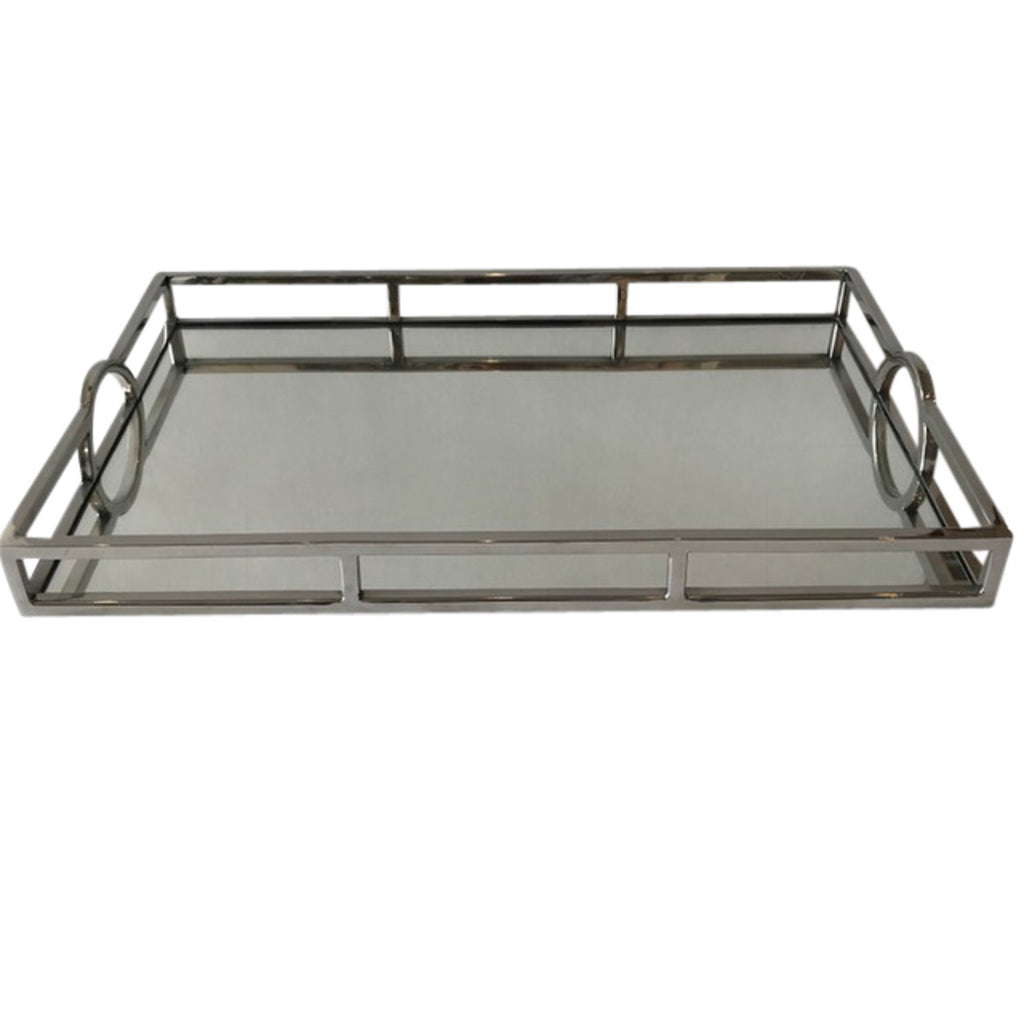 Shop Mirrored Rectangular Silver Tray - Medium at Rose St Trading Co