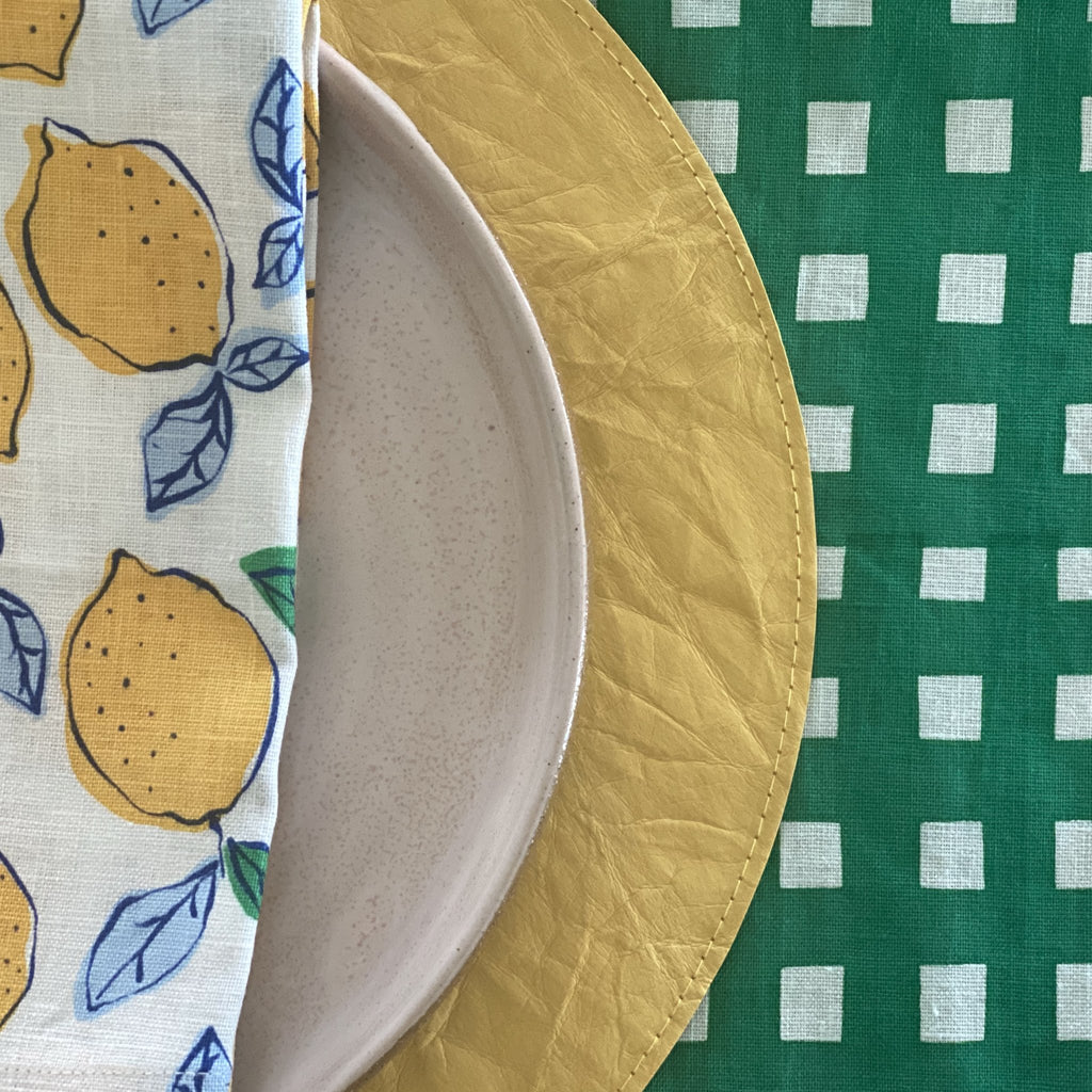 Shop Lemon Napkin | Navy at Rose St Trading Co