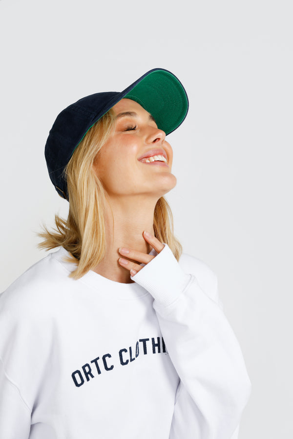 Shop Clubs Cap | Navy and Green at Rose St Trading Co