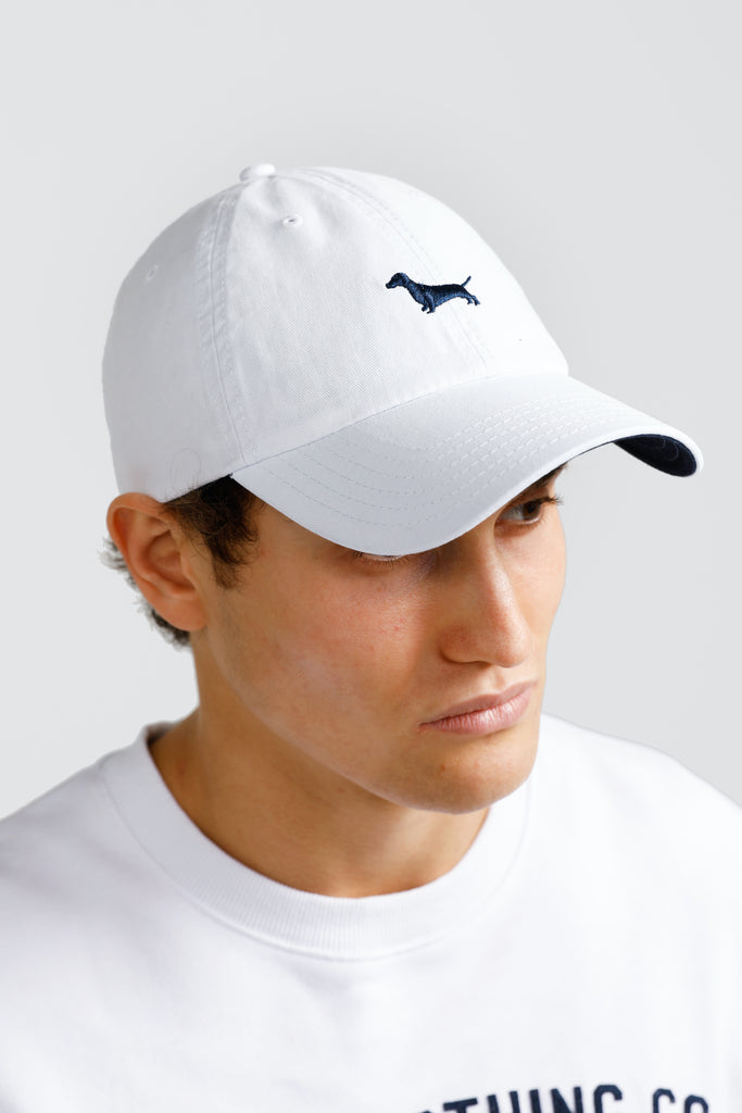 Shop Daschund Cap | White at Rose St Trading Co