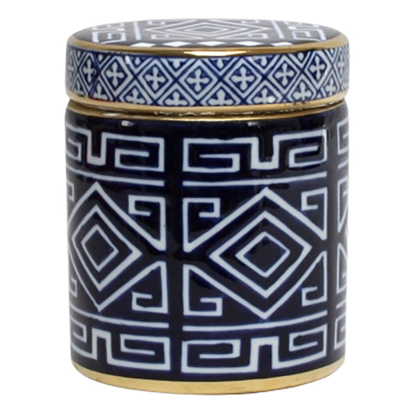 Shop Blue and White Aztec Jar at Rose St Trading Co