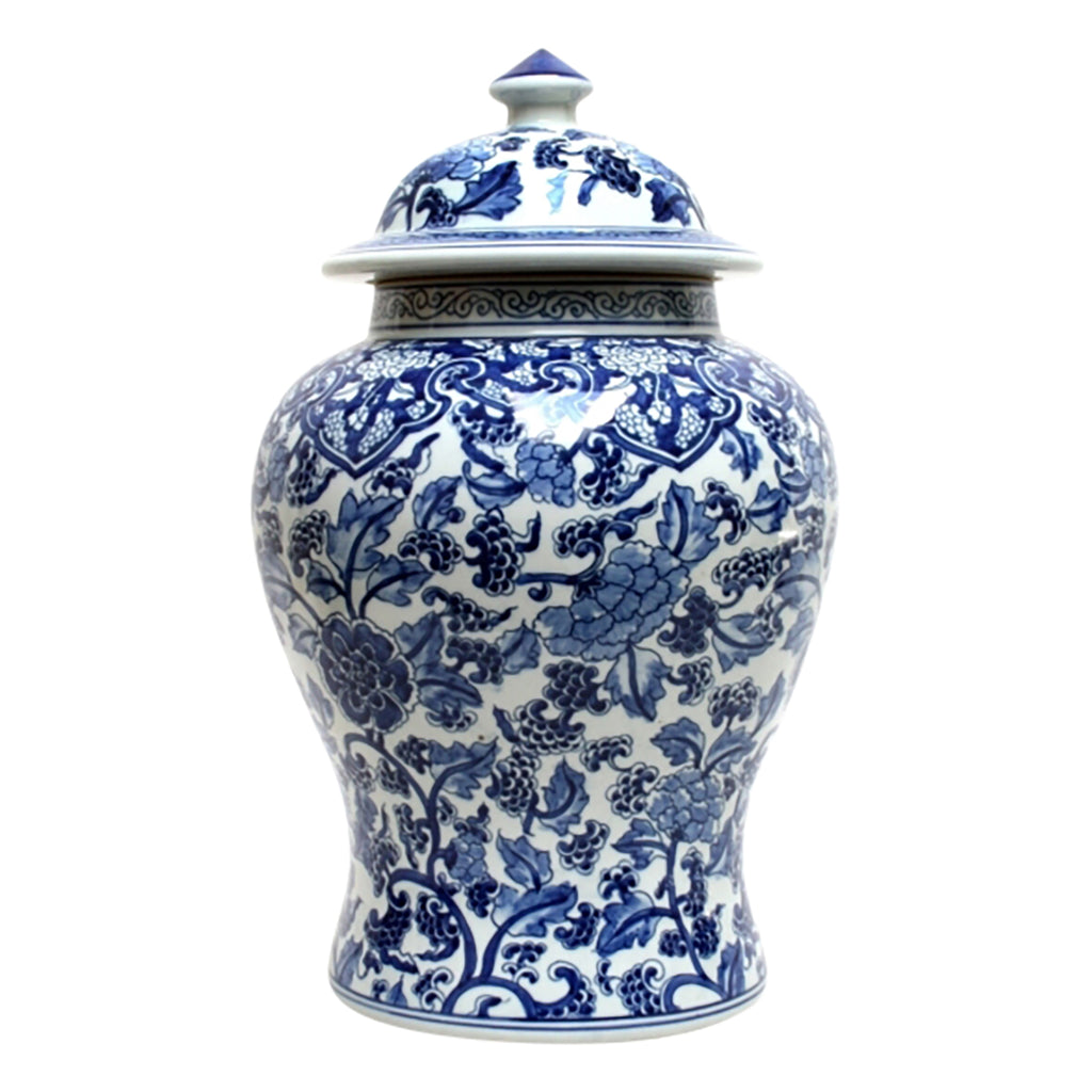 Shop Blue and White Paisley Ginger Jar at Rose St Trading Co