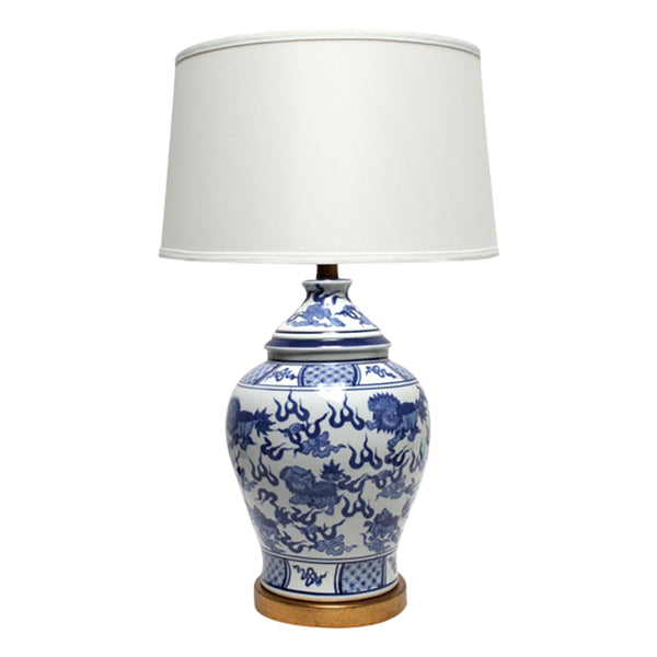 Shop Dynasty Blue and White Lamp at Rose St Trading Co