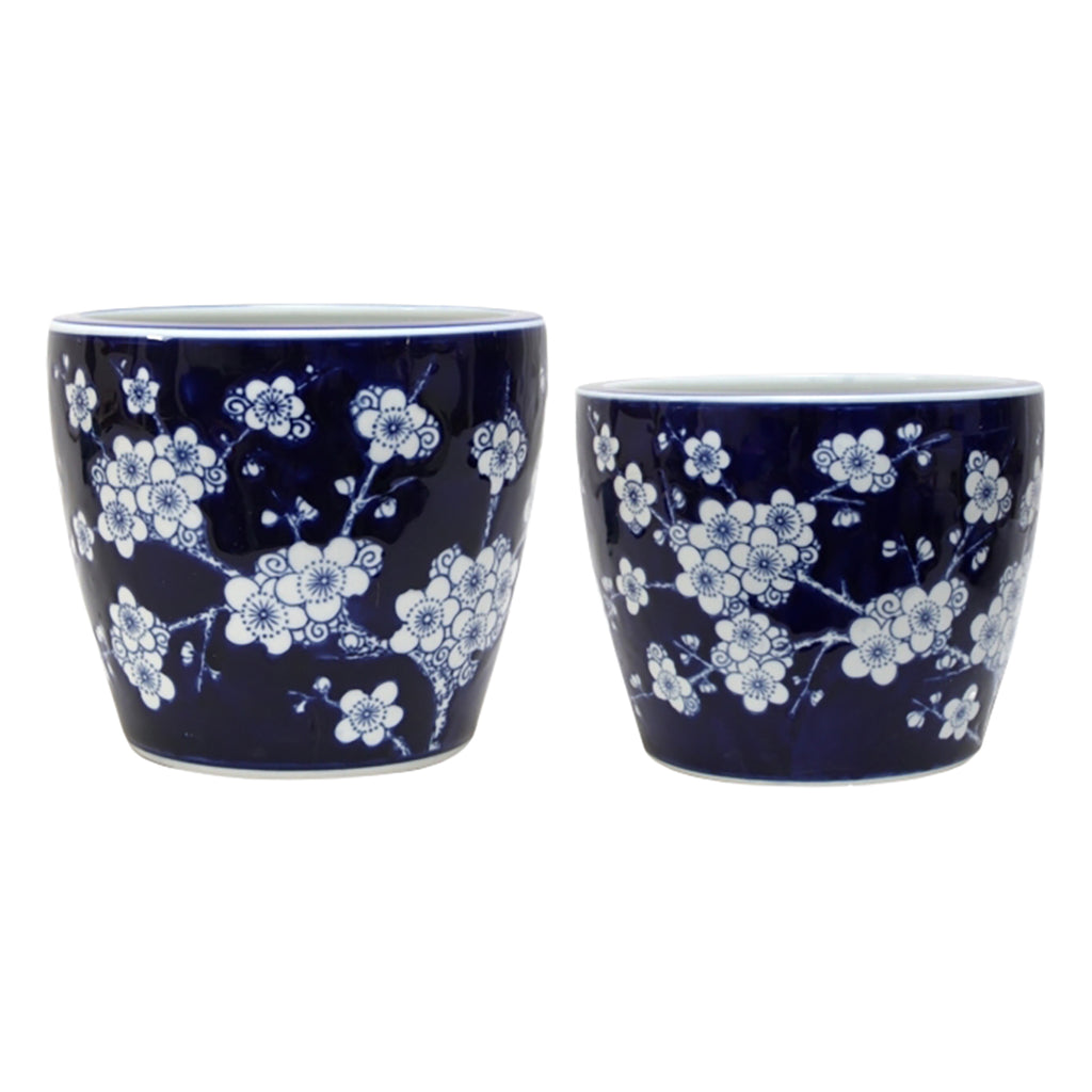 Shop Blossom Planter Blue + White at Rose St Trading Co