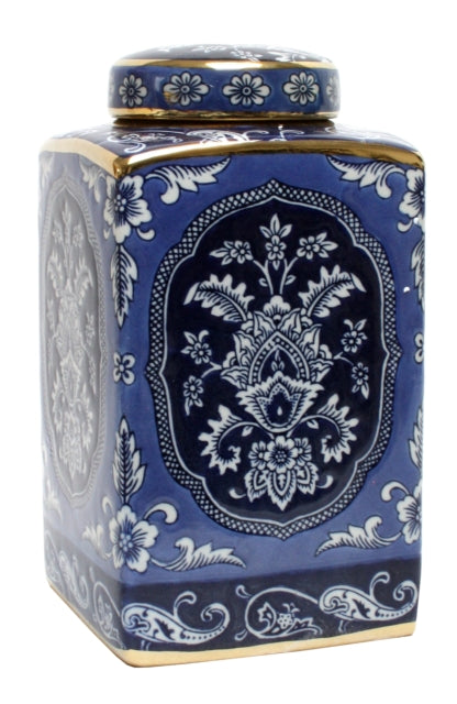 Shop Blue and White Azure 26cm Jar at Rose St Trading Co