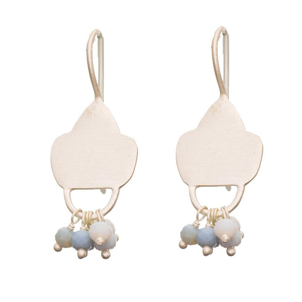 Shop Sterling Silver Shield Earrings - Blue Opal at Rose St Trading Co