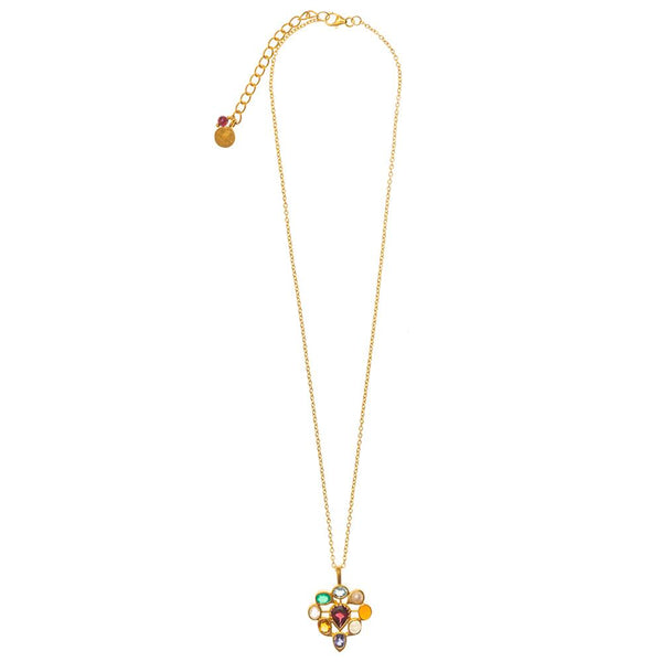 Shop Kundan Multi Gem Pendant Necklace at Rose St Trading Co