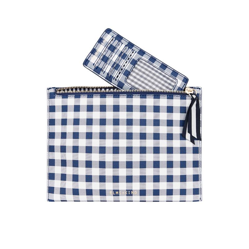 Shop New York Messenger | Navy Gingham at Rose St Trading Co
