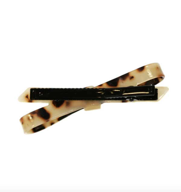 Shop Hair Clip | Light Tortoise Bow at Rose St Trading Co