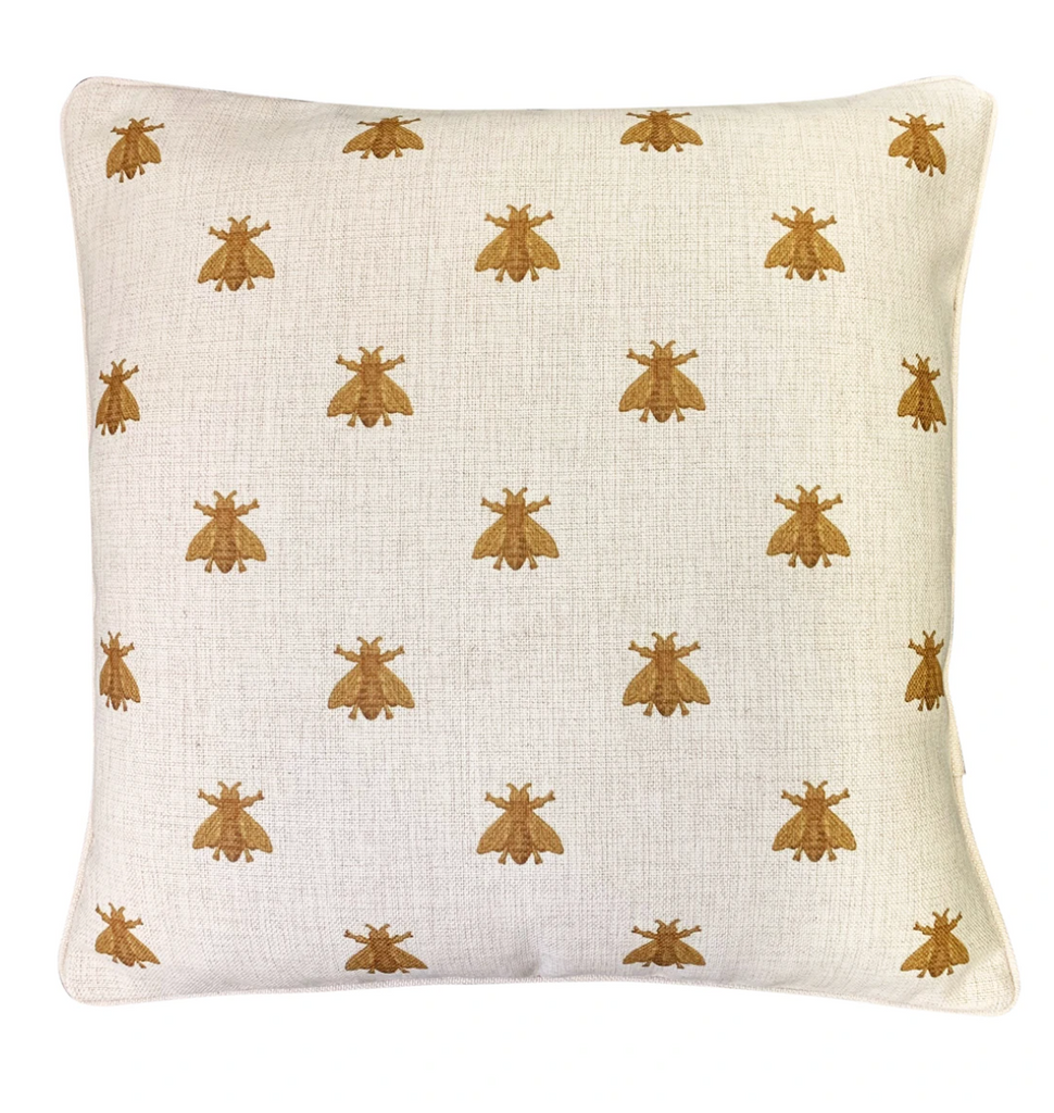 Shop Gold Bee Cushion at Rose St Trading Co