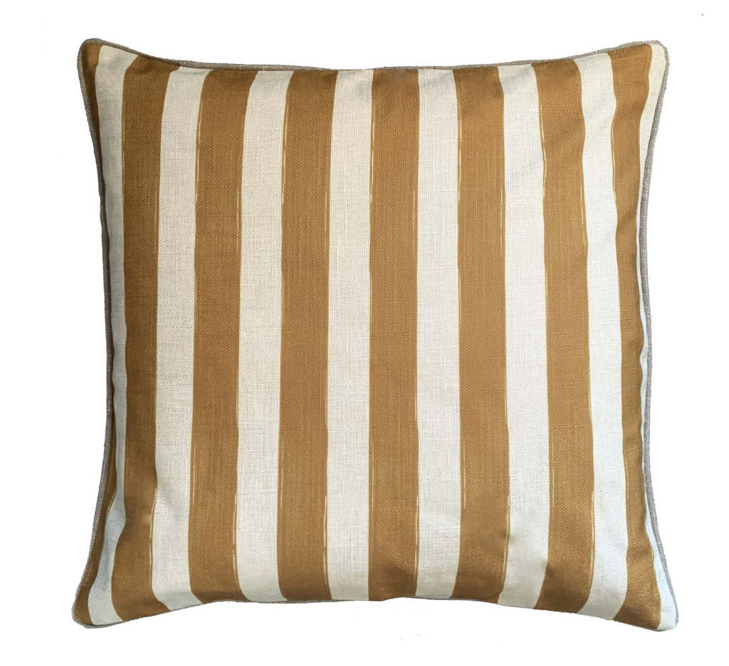 Shop Camel Stripe Cushion at Rose St Trading Co