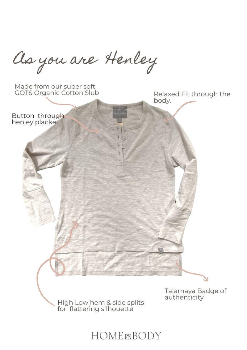Shop As You Are Henley Top | Silver Cloud Grey at Rose St Trading Co
