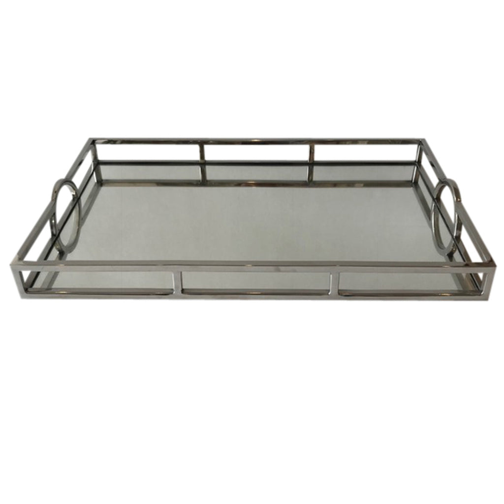 Shop Mirrored Rectangular Silver Tray - Large at Rose St Trading Co
