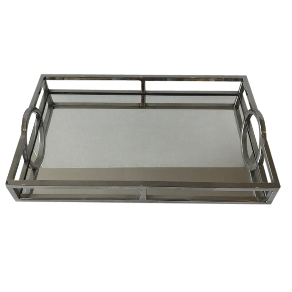 Shop Mirrored Rectangular Silver Tray - Small at Rose St Trading Co