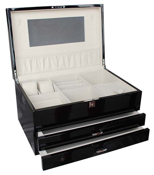 Shop Extra Large Lacquered Jewellery Box -Black at Rose St Trading Co