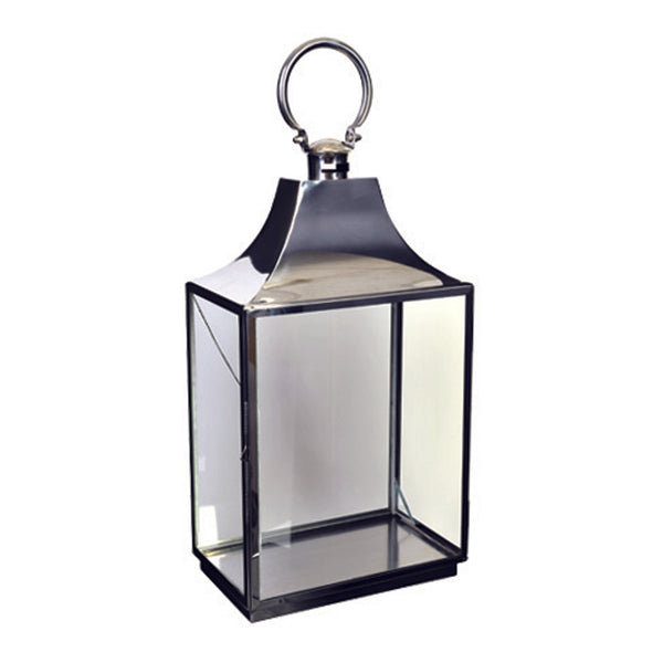 Shop 54cm Rectangle Silver Lantern at Rose St Trading Co