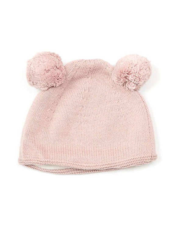 Shop Double Pom Pom Hat - Blush at Rose St Trading Co