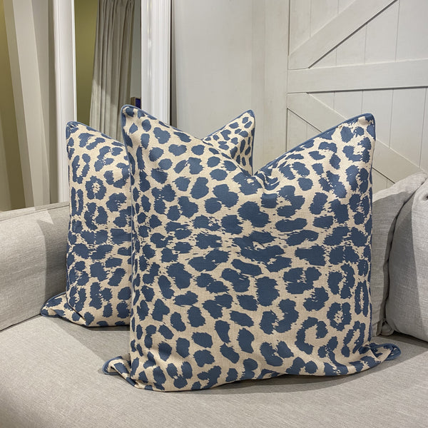 Shop Pale Blue Leopard Euro at Rose St Trading Co