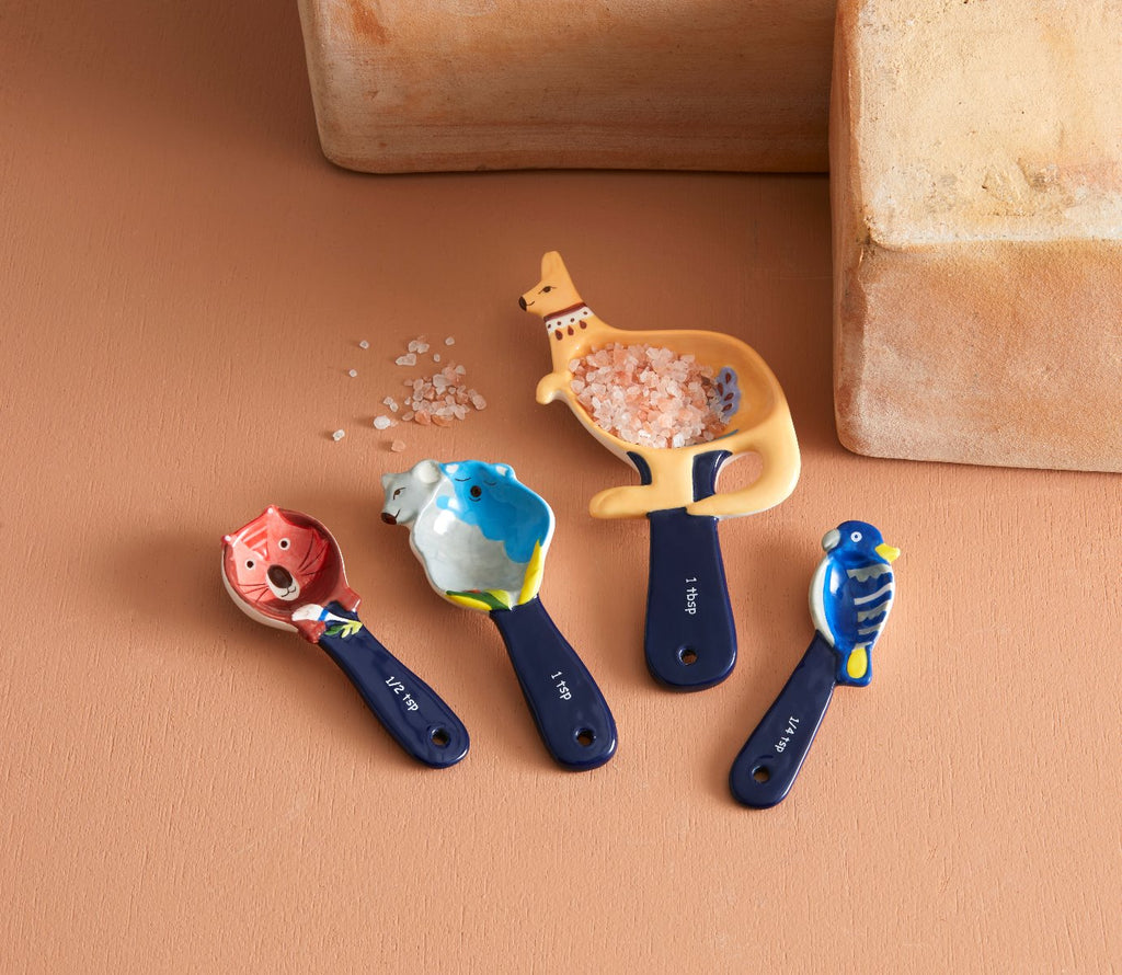 Shop Fauna Measuring Spoons Set 4 at Rose St Trading Co